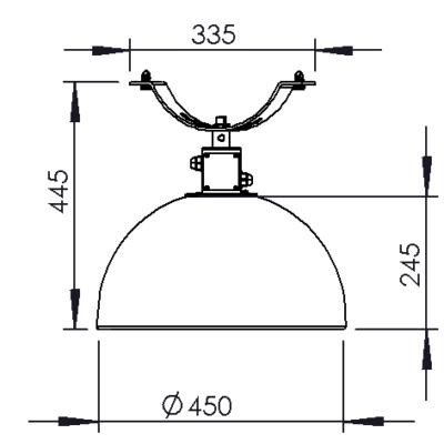 Tråd monterings dimensioner