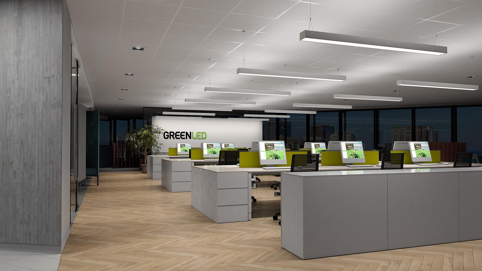Den nya Phi-produktfamiljen – bländningsfri belysning för kontor, skolor, butiker och industri