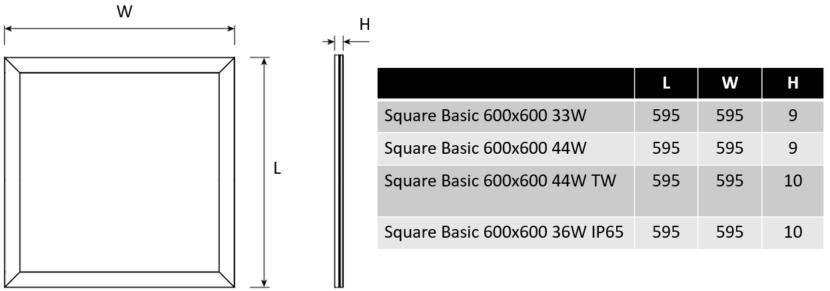 Square Basic dimensioner